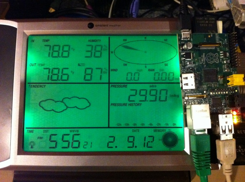 Ambient Weather WS-1090 and Raspberry Pi