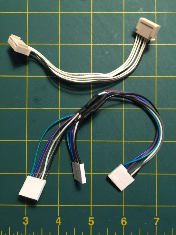 Original SX-64 Internal IEC Cable (Top) New DX-64 Internal IEC Cable (Bottom)