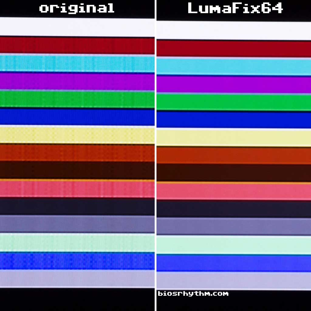 Left: original, right: LumaFix64