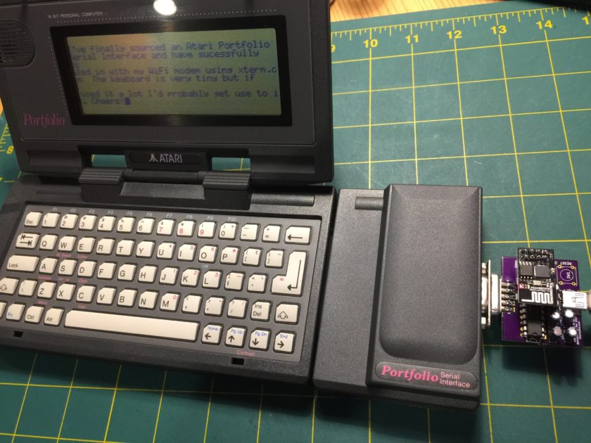 Atari Portfolio and WiFi Modem