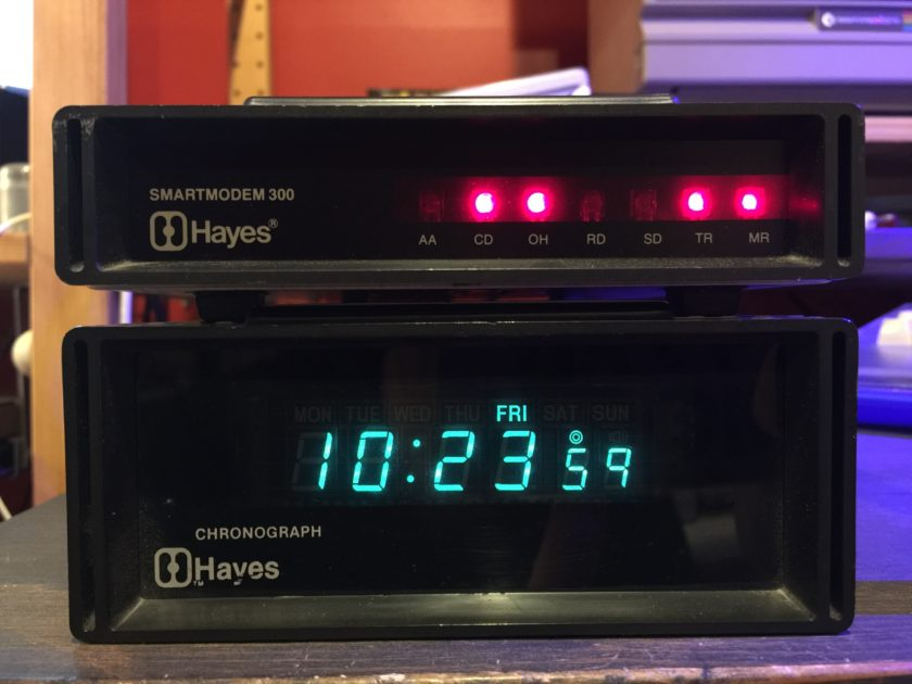 Hayes Chronograph and Smartmodem 300
